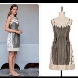 Anthro Moulinette Soeurs Rainwashed Shale Dress